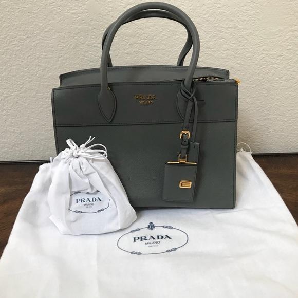 bbe45f65d934 Prada Bags | Brand New Gray Milano Medium Esplanade Tote | Poshmark